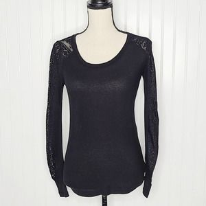Lucky Brand black thermal top